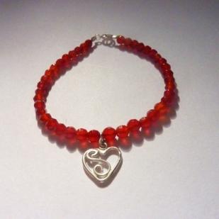 carnelian heart bracelet